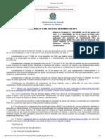 Portaria Nº 2.299, De 29 de Setembro de 2011 - Financiamento Pab Fixo