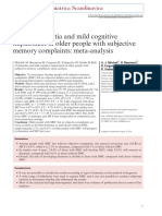 Risk of Dementia and Mild Cognitive Impairment in Older People With Subjective Memory Complaints- Meta-Analysis