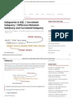Subqueries in SQL _ Correlated Subquery _ Difference Between SubQuery and Correlated Subquery