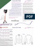 Instrucciones de Costura Blusa Camisera Clásica MJ1154b1