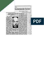 Posada. Germán. Un Plan de Reestructuración Nacional. El Tiempo. 21 de Mayo de 1961.