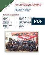 INFORME de LEYENDA Maria Paz o La Irrigación Del Diablo