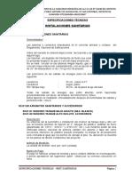 Especificaciones - Inst. Sanitarias