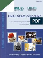 Malaysia CIDB Final Draft Guideline OSH 2102