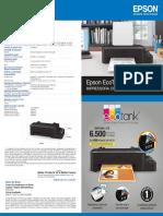 Folheto Ecotank l120 19x21.5cm Visual