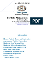 3511-Unit-II-PPT - Portfolio Management Chapter 1I-PPT Portfolio Management Dr S.M.tariq Zafar- Part- II