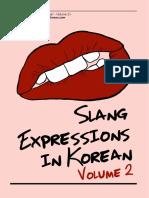 Korean Slang Expressions Volume 2