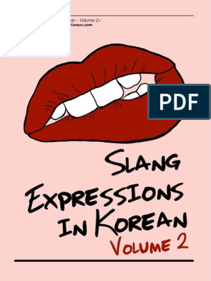 Korean Slang Expressions Volume 2 Fan Person Lunch