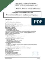 Programme Physique