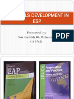 187291003 Materials Development in Esp