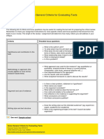 UNSW Current Students - Some General Criteria for Evaluating Texts - 2014-03-05