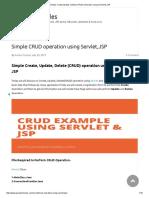 Simple Create,Update ,Delete (CRUD) Operation Using Servlet & JSP