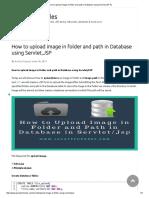 How to Upload Image in Folder and Path in Database Using Servlet,JSP %