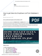 How to Get Data Into DropDown List From Database in JSP