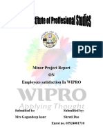 71451316 Satisfaction Level of Employees in Wipro