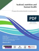 Seafood Nutrition and Human Health