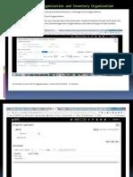 Create Item Organization and Inventory Organization