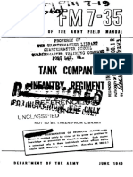 FM7-35 Tank Company Infantry Regiment