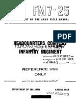 FM7-25 HQ Company Infantry Regiment