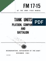 FM17-15 Tank Units Platoon, Company and Battalion 1961