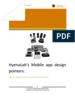 HyenaLab's Mobile App Design Pointers