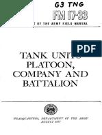FM17-33 Tank Units Platoon, Company and Battalion 1957