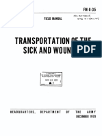 FM8-35 Transportation of the Sick and Wounded 1970