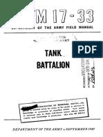 FM17-33 Tank Battalion 1949