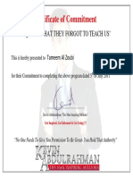 Tameem Al Zoubi- Certificate for Completion of What They Forgot to Teach Us…