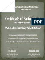 Vesper - Marigondon Church (Participation)