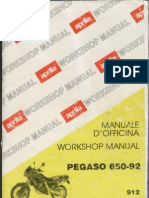 Aprilia Pegaso 650 1992 - Workshop Manual 912 [UK, IT]