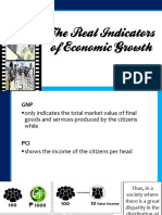 The Real Indicators of Economic Growth