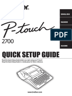 Brother P-Touch 2700 Multi-Language - Quick Setting Guide