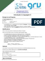 Introdução à Programação C