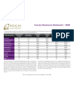Xocai Income Disclosure Statement 2009