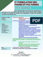 Chimie Et Formulation Des Polyurethanes Et Polyurees 2010