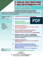 Controle Des Peintures & Revetements 2010