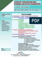 Identification Et Utilisation Des Matieres Plastiques Courantes 2010-2