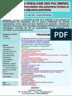Initiation Rheologie Des Polymeres Fondus 2010