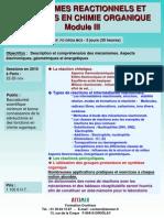 Mecanismes Reactionnels Et Reactions en Chimie Organique III 2010