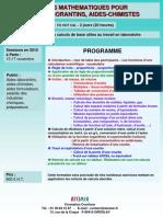 Outils Mathematiques Pour Aides-laborantins 2010