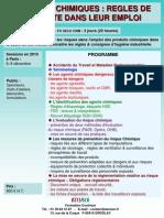 Produits Chimiques Regles Securite 2010