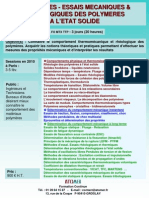Proprietes Mecaniques Des Polymeres a l'Etat Solide 2010