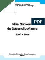 plan nacional de desarrollo minero 2002-2006