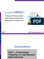 Econometrics I 7
