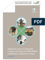 Reglamento Interno de Seguridad y Salud en El Trabajo - Agro Rural