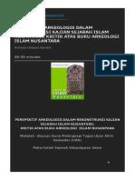 Perspektif Arkeologis Dalam Rekonstruksi Kajian Sejarah Islam Nusantara_ Kritik Atas Buku Arkeologi Islam Nusantara