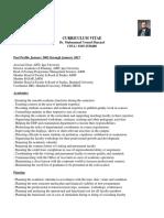 Dr. Muhammad Yousuf Sharjeel CV January 2018