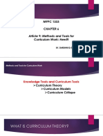 Article 9 Methods and Tools for Curriculum Work Hewitt