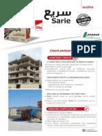 Fiche Produit Ciment Sarie Fr